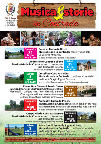 Musica&Storie in Contrada ad Asiago - estate 2017