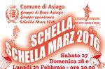 SCHELLA MARZ 2016, das Feuer von 27 bis 29 Februar, Asiago, Vecia