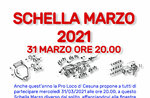 SCHELLA MARZO from home in Cesuna, the traditional greeting to spring - 31 March 2021