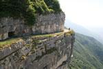 Ausflugsroute auf dem Berg Cengio