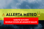 Weather alert - Schools close in the municipalities of Asiago and Gaul - Plateau of the Seven Municipalities