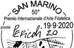 Tullio Pericoli unterzeichnet die San marino Absage des 50. Asiago-Preises der Filatelkunst von Asiago