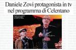 Daniele Zovi protagonista in tv nel programma di Celentano