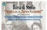 Amelia and Nino Sandri Scholarship 21st edition