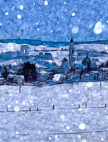 Cartolina di Asiago in stile Van Gogh
