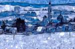 """""""Schneefall in Asiago"""", gesehen durch die Augen von Van Gogh"""
