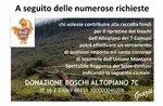 Donazione per il ripristino boschi dell
