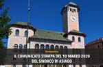 Coronavirus Asiago: Asiago Bürgermeister Roberto Rigoni Stern Pressemitteilung vom 10. März 2020