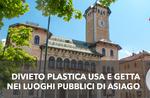 Asiago Eco freundlich: Verbotene Einwegkunststoffe auf öffentlichen Plätzen