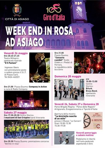 Eventi weekend in rosa ad Asiago per Giro d'Italia 2017