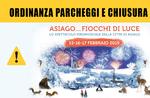 """Ordinanza su parcheggi e chiusura strade per """"Asiago...Fiocchi di Luce 2019"""""""