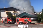 Fire in Gallium: an adjoining chalet is on fire at the Hut Bianca Pizzeria