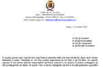 Brief an Schulen von Asiago Bürgermeister Roberto Rigoni Stern