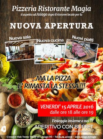 Grande riapertura della pizzeria e ristorante magia di for Nuova apertura grande arredo bari