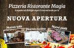 locandina riapertura pizzeria ristorante magia asiago