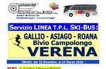 SKI BUS FREE für VERENA von GALLIO, ASIAGO und ROANA - Winter 2019-2020