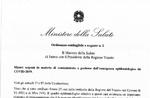 CORONAVIRUS - Die Verordnung vom 23/2/2020 des Gesundheitsministers von Intesa mit dem Präsidenten der Region Venetien