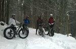"""""""In the Moonlight"""" von Reiten auf Schnee mit dem Fat Bike"""