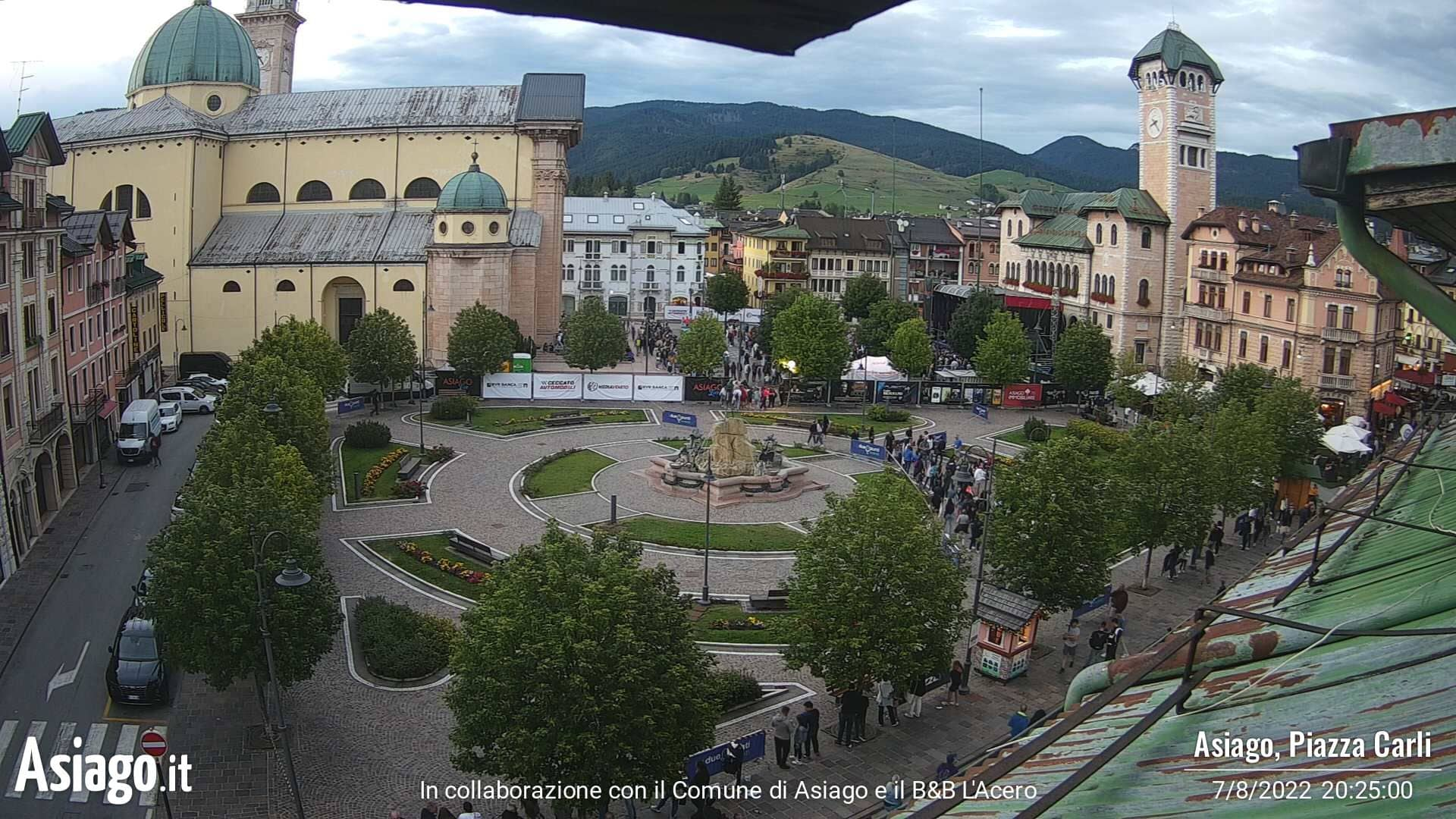 Webcam Asiago piazza Carli