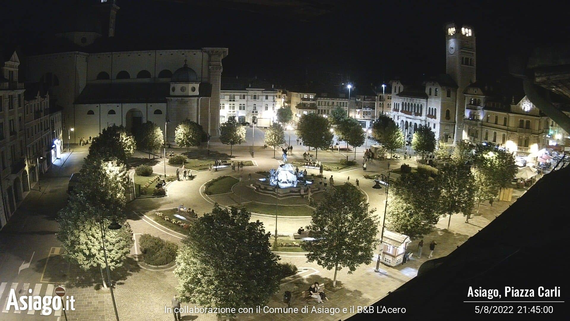 Webcam Asiago, Piazza Giovanni Carli - Asiago.it