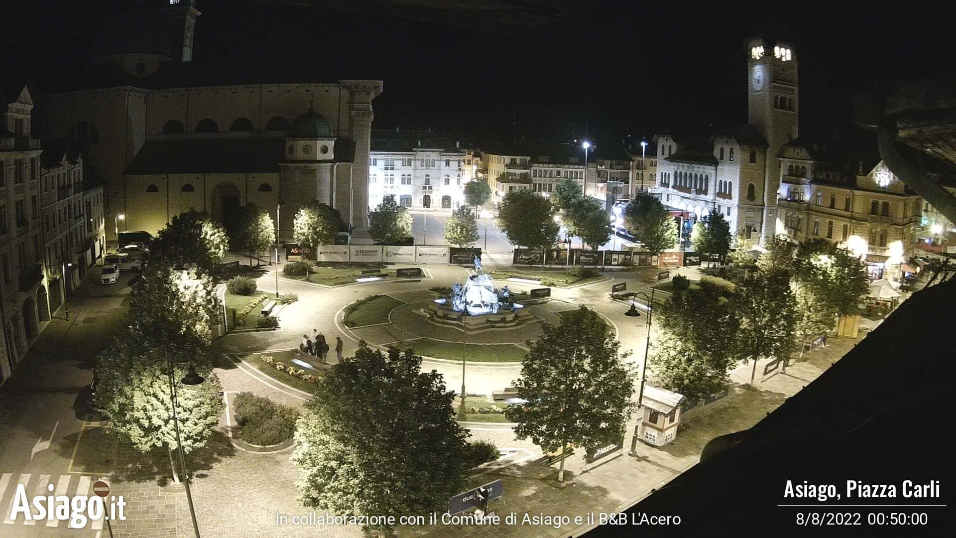 Webcam con vista su Piazza Carli ad Asiago
