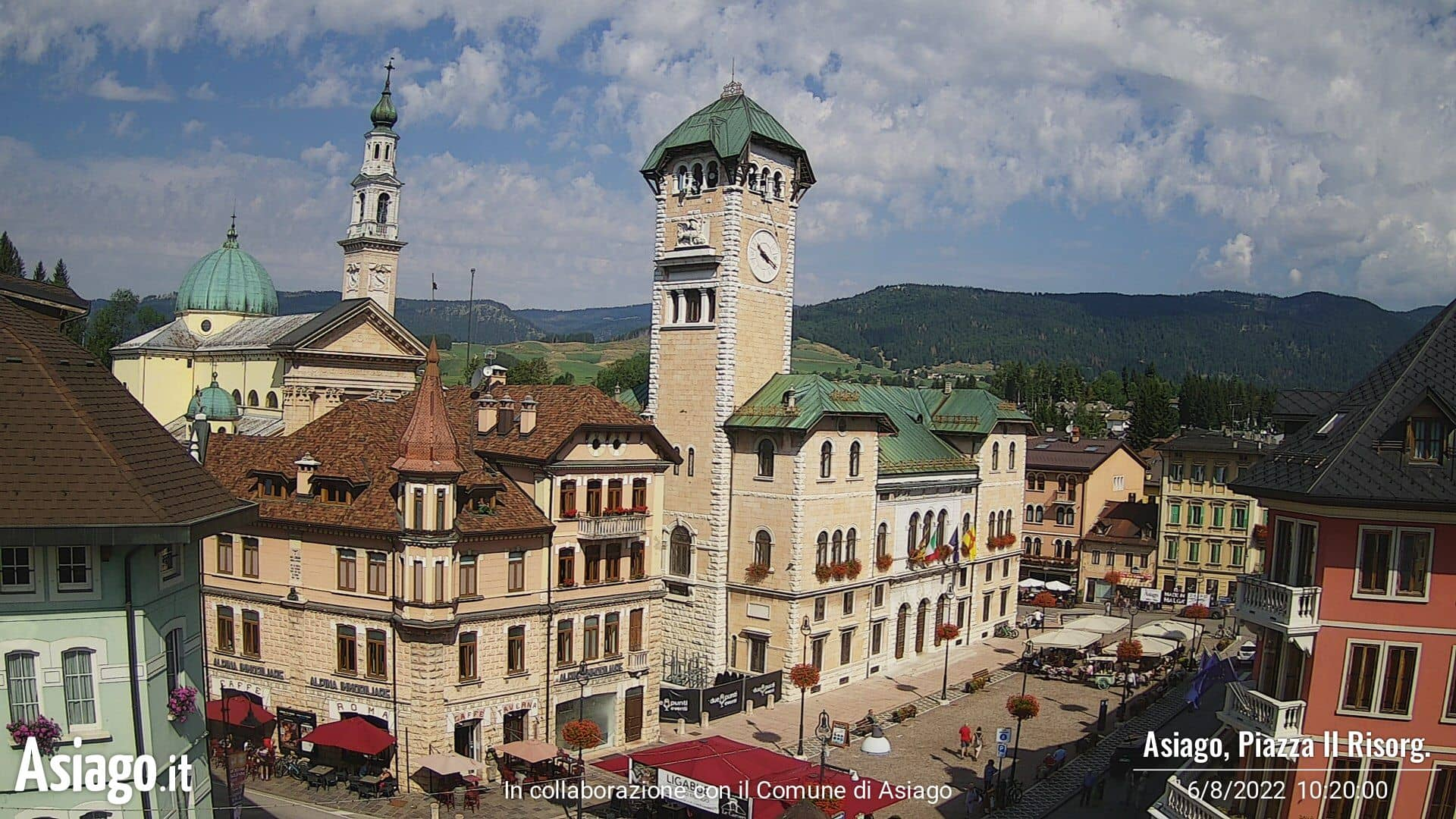 Webcam Asiago piazza II Risorgimento