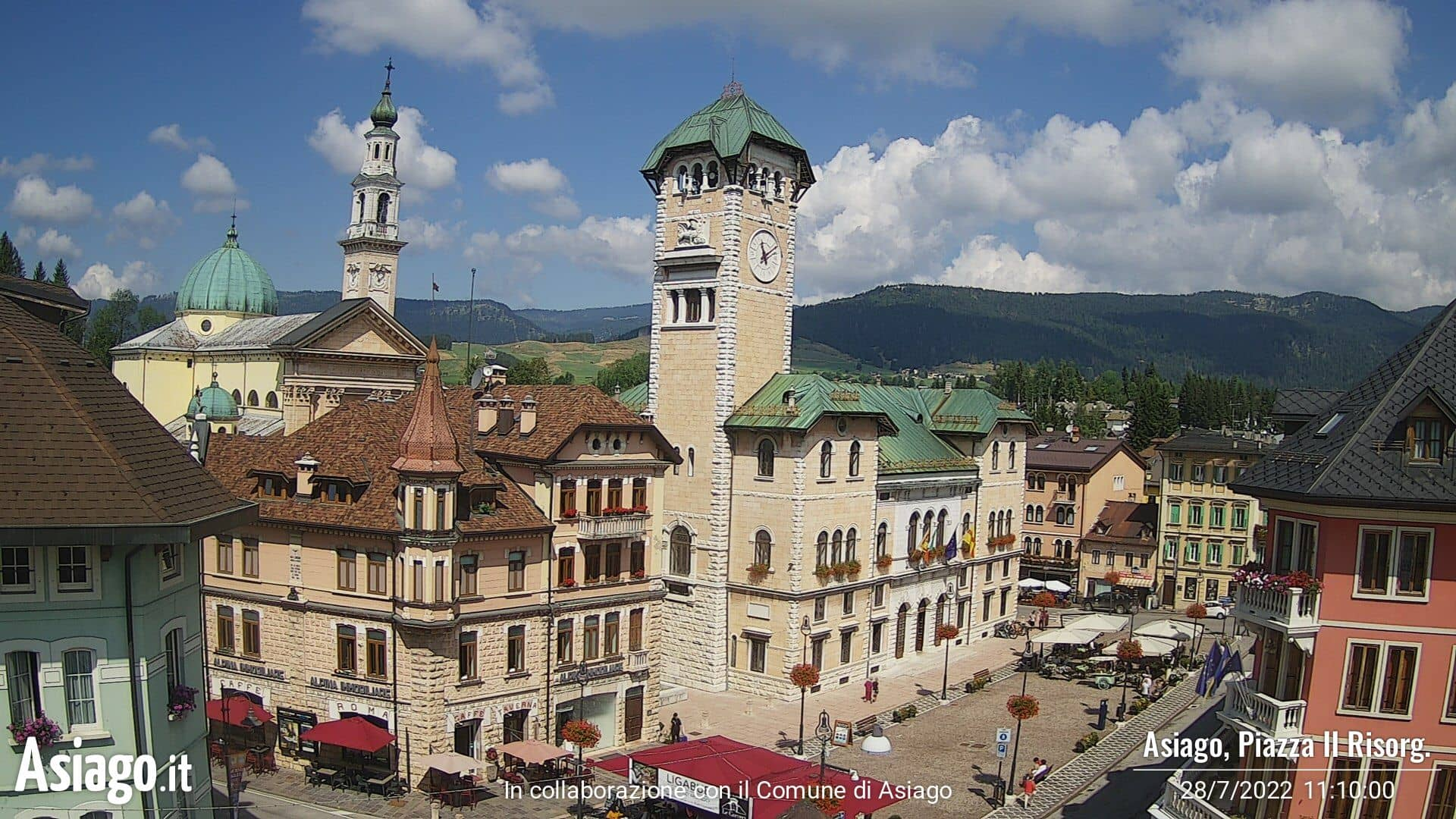 Webcam Asiago, Piazza II Risorgimento - Asiago.it