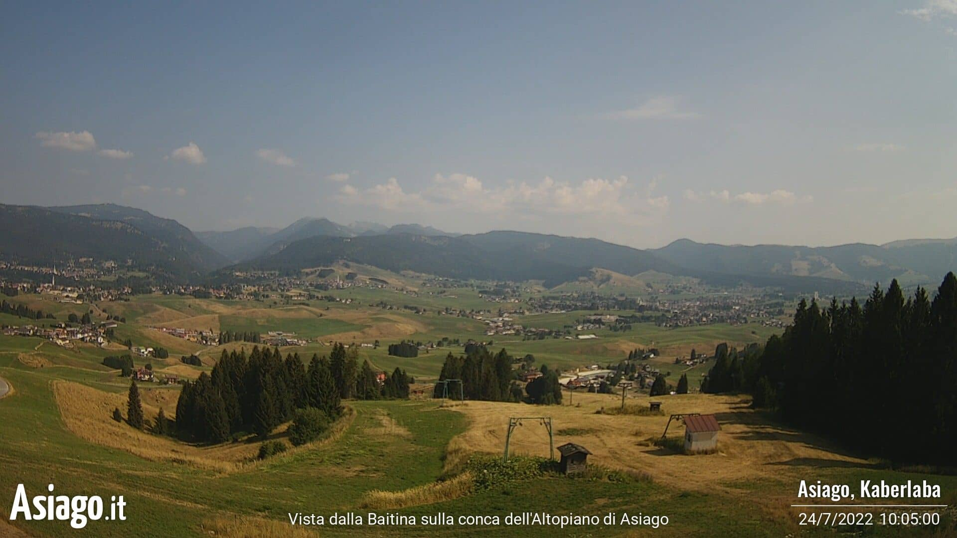 Live webcam from Baitina on the Asiago plateau