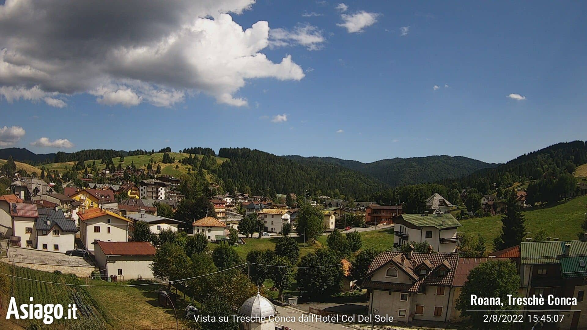 Live-Webcam des Asiago.It aus dem Hotel Col del Sole