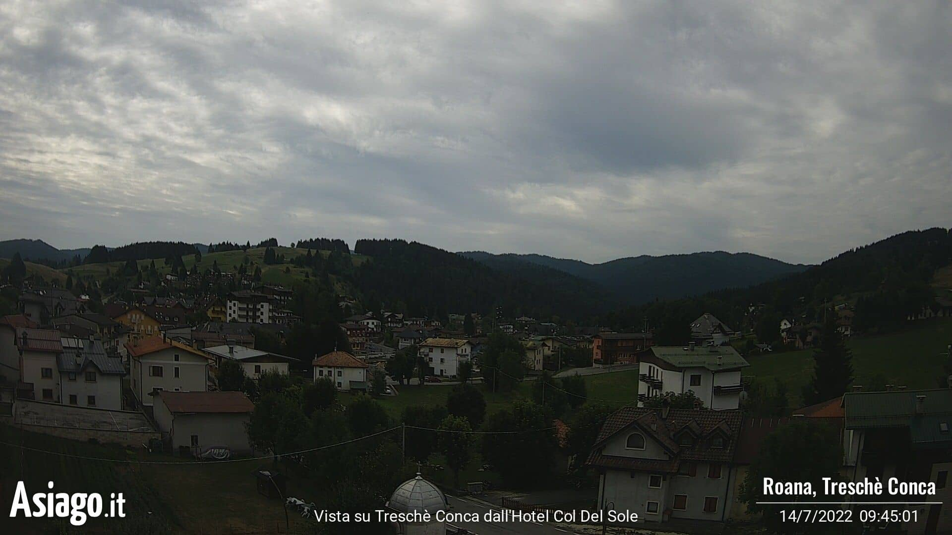 Webcam live di Asiago.It dall'Hotel Col del Sole
