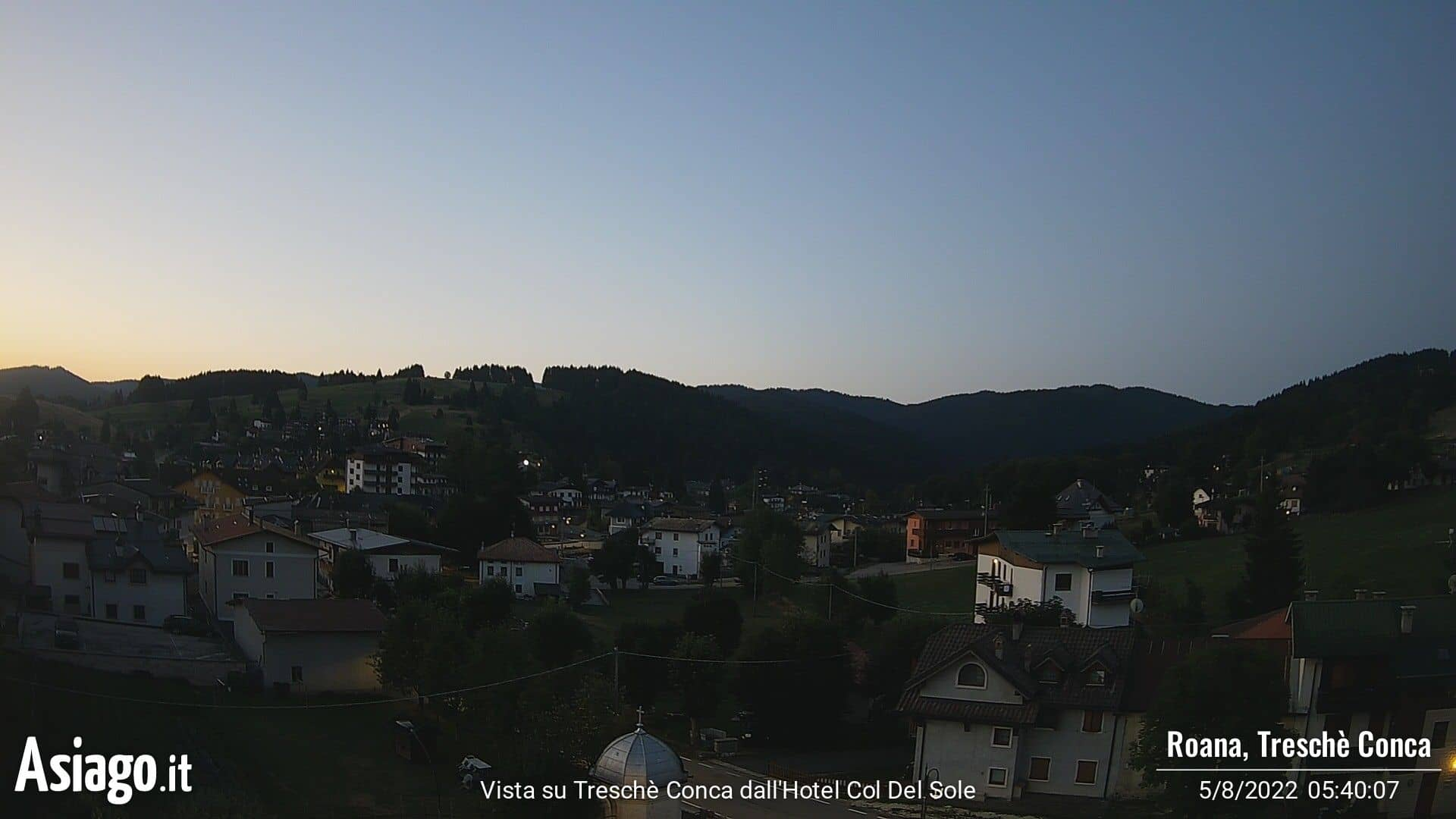 Live webcam of Asiago.It from the Hotel Col del Sole