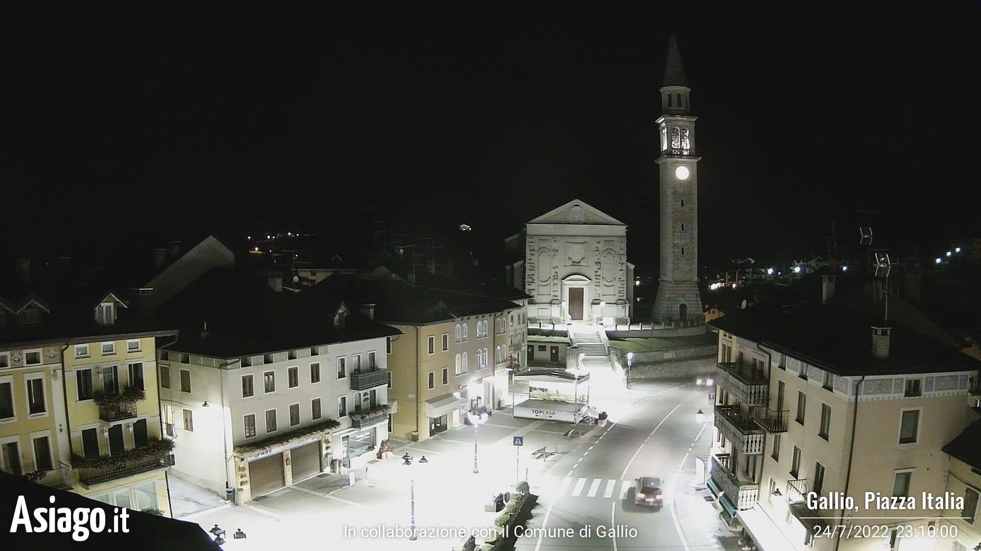Webcam live di Asiago.It sulla piazza di Gallio