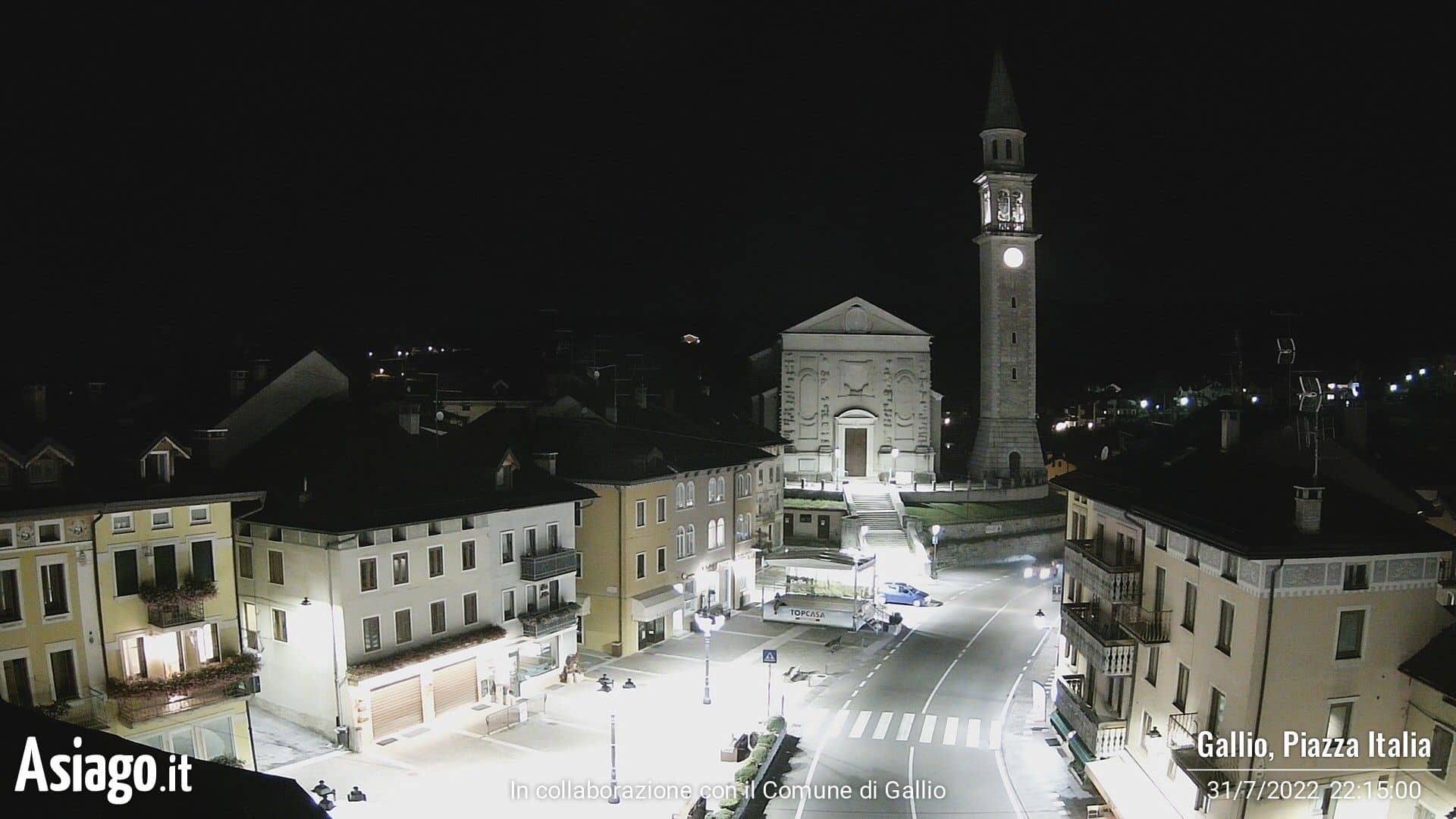Webcam live su Piazza Italia a Gallio