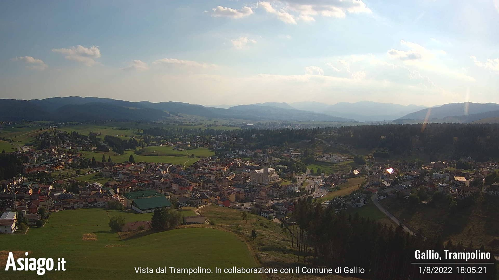 Live Webcams Asiago.It von Gallio Trampolin