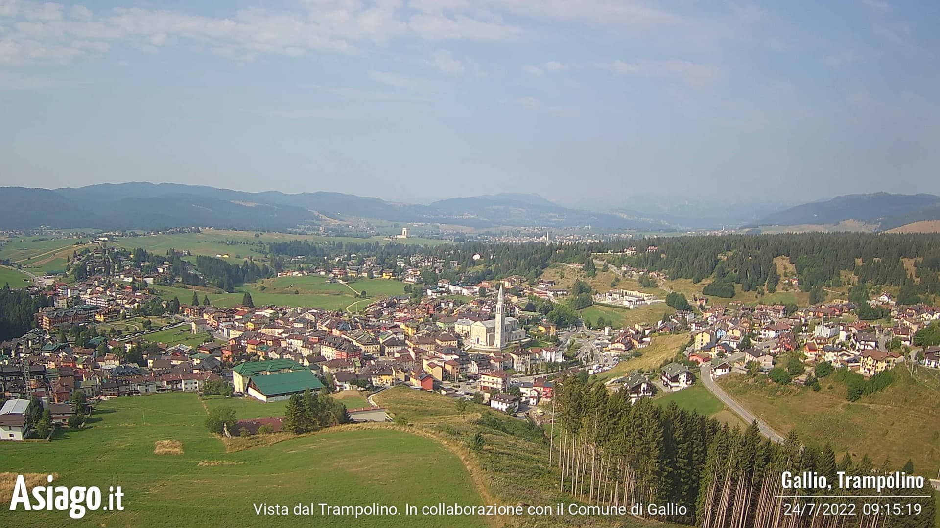 Asiago.It live webcams from Gallio's trampoline