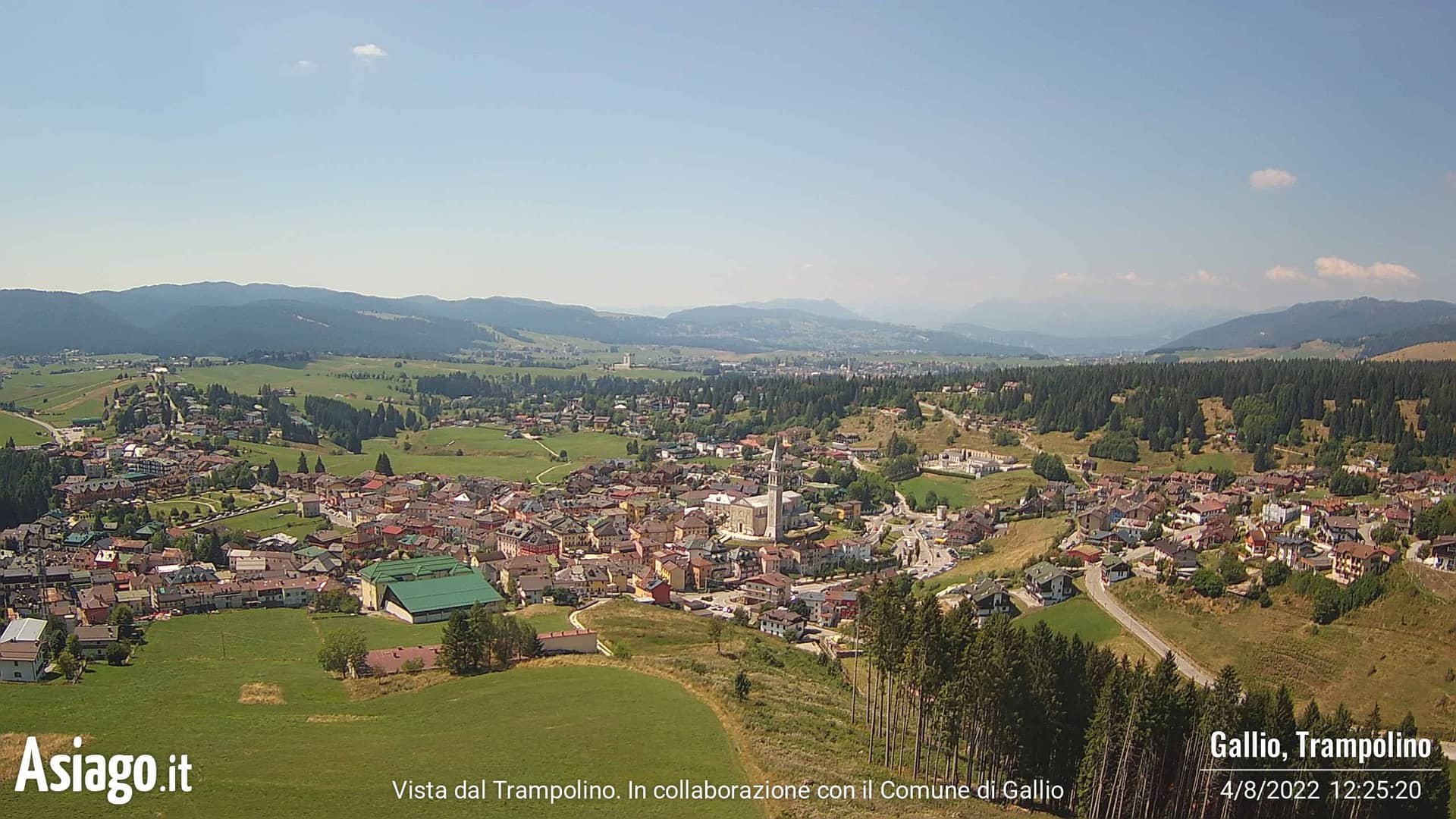 Webcam live di Asiago.It dal trampolino di Gallio