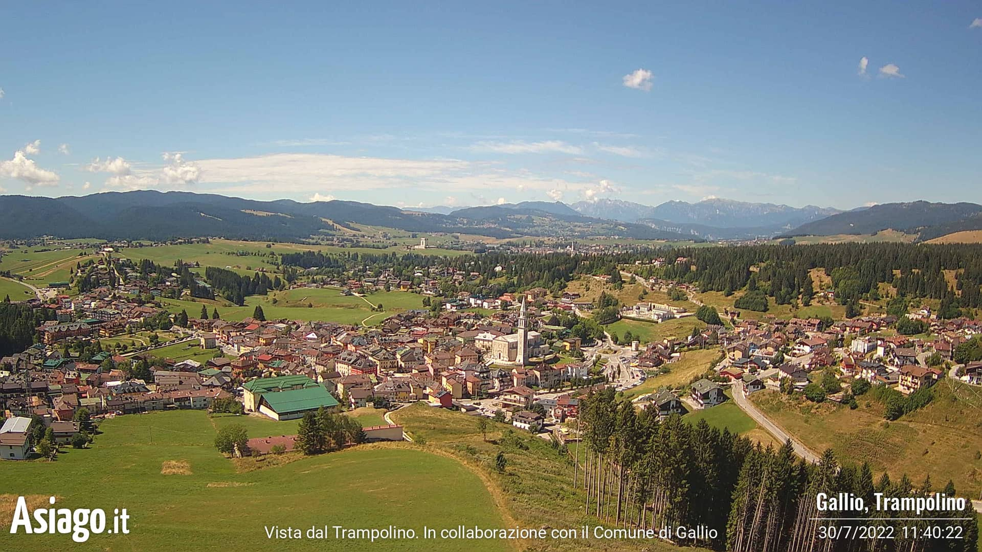 Webcam live dal trampolino di Gallio