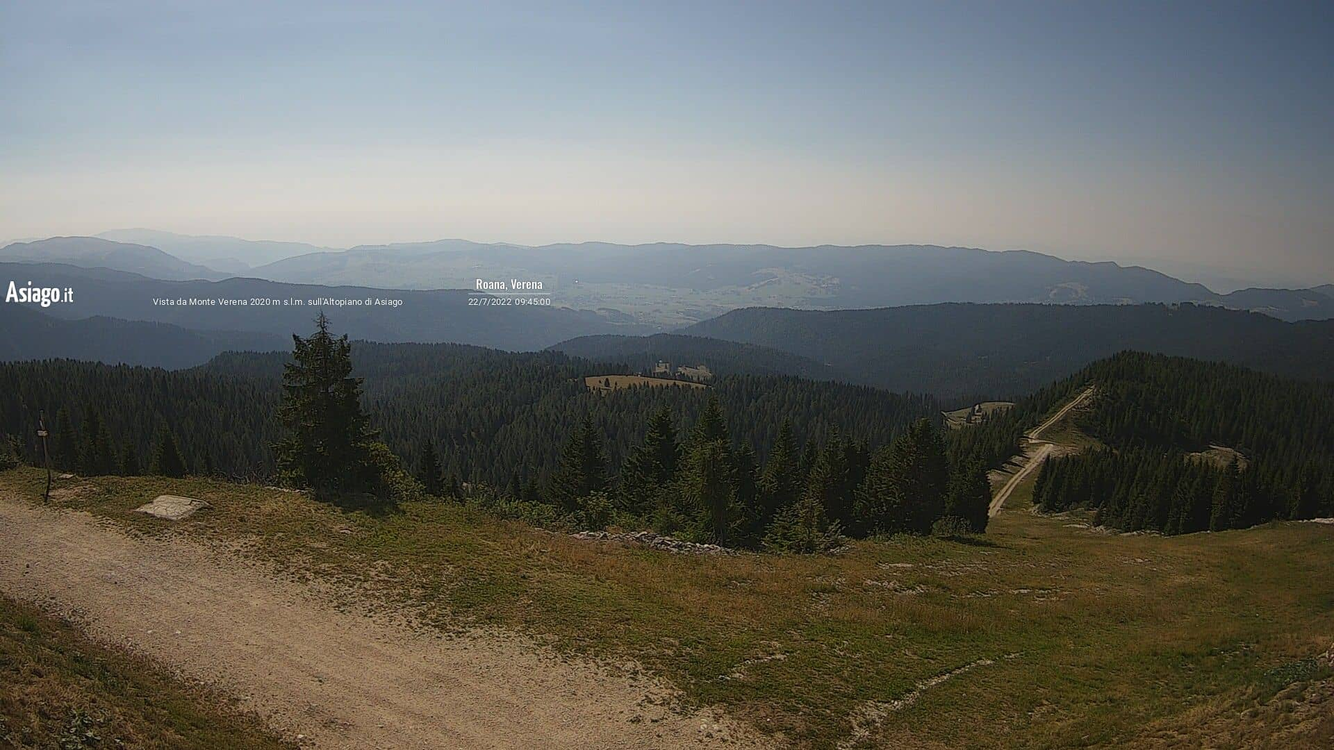 Live webcam of Asiago.It from Monte Verena 2020