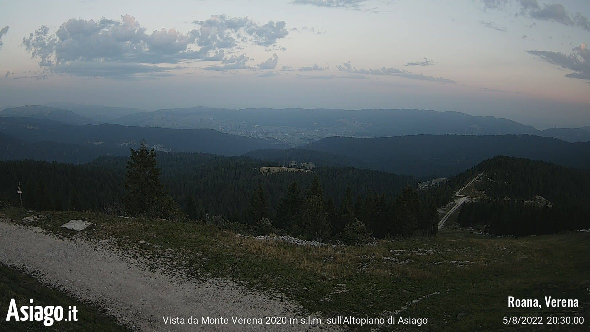 Live-Webcam von Asiago.It vom Monte Verena 2020