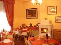 La sala da pranzo dell'Hotel Da Barba