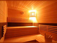 La sauna dell'albergo