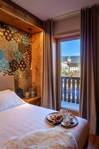 Dalla Camera Doppia Superior con terrazzo si può ammirare una stupenda vista su Asiago