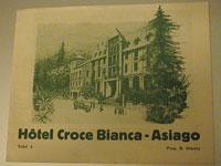 Cartolina d'epoca dell'Hotel Croce BIanca