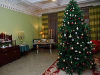 Saletta con albero di Natale
