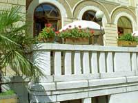 La terrazza dell'Hotel Croce Bianca