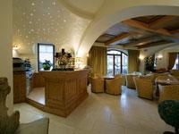Il salotto dove gli ospiti dell'Hotel Europa possono passare lieti momenti di relax
