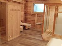 Ingresso della sauna nell'area wellness dell'ostello