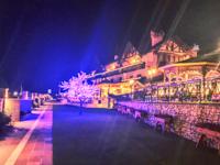 Hotel La Bocchetta illuminato dagli addobbi natalizi