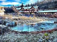 L'Hotel La Bocchetta con la neve in inverno