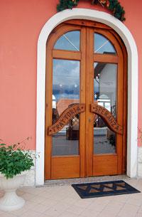 L'ingresso dell'albergo Speranza di Foza
